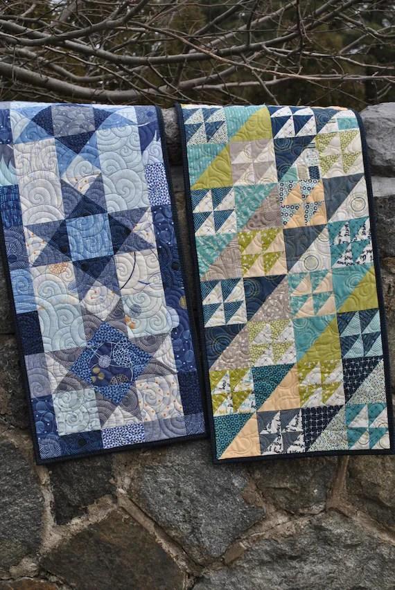 patchwork modele de chemin de table deux differents projets facile et rapide un paquet de charme carre deux fois aussi beau