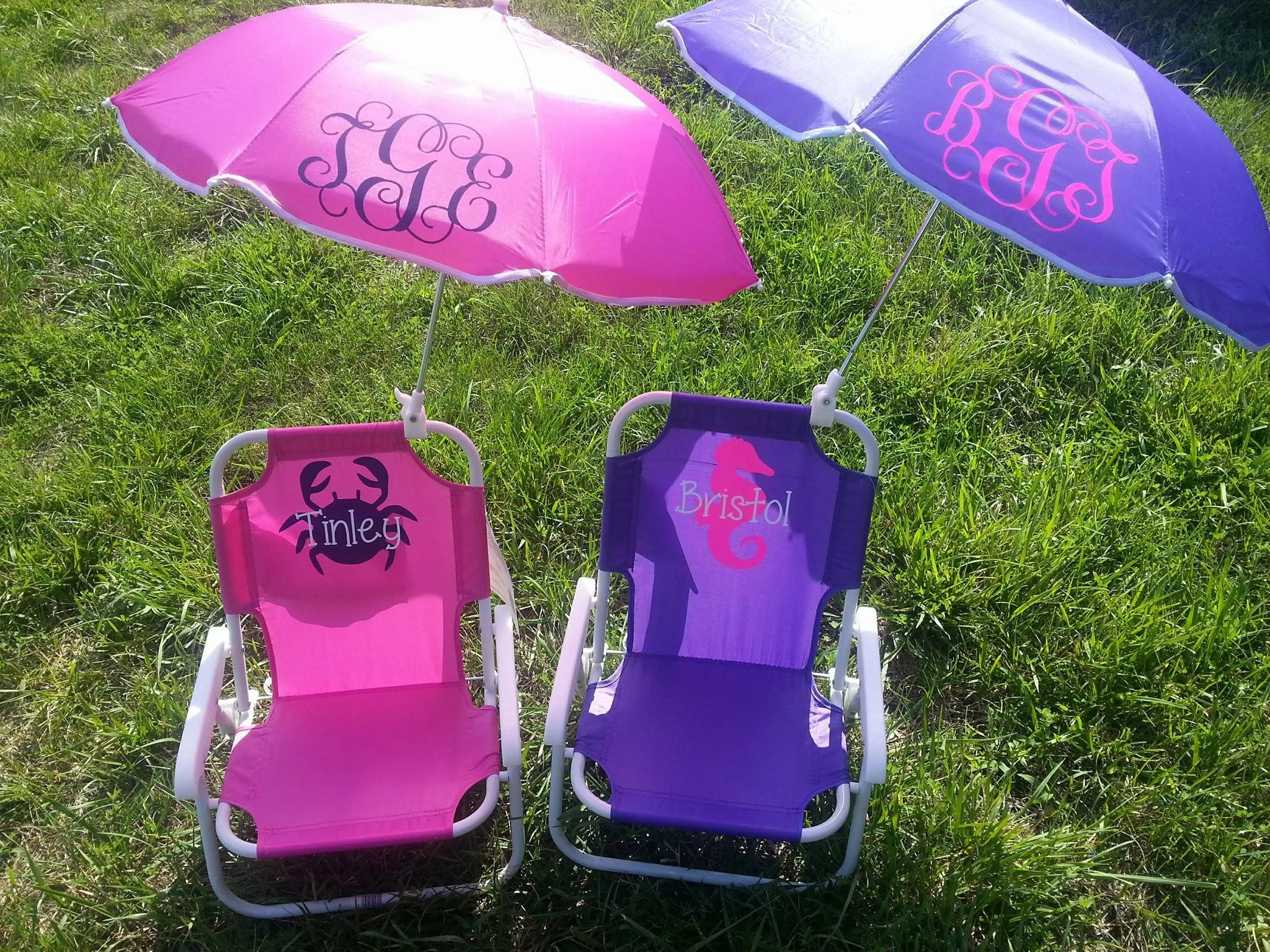 toddler beach chairs office desk and chair cad block childrens umbrella monogrammed etsy image 0