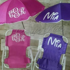 Toddler Beach Chair With Umbrella Ergonomic Malaysia Childrens And Monogrammed Etsy Image 0