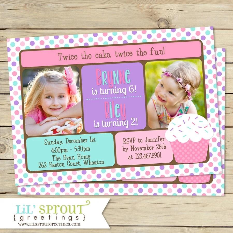 sisters birthday invitation