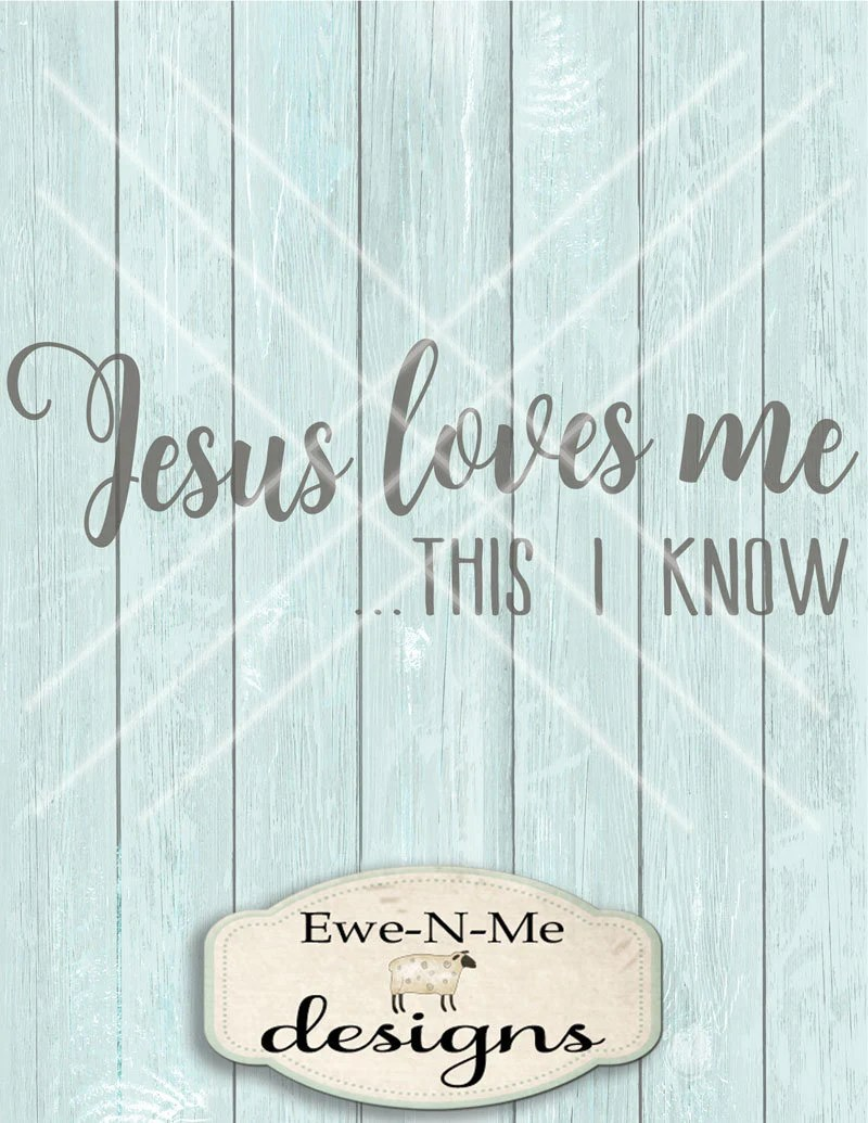 Download Jesus Loves Me SVG - This I Know svg - Christian SVG ...