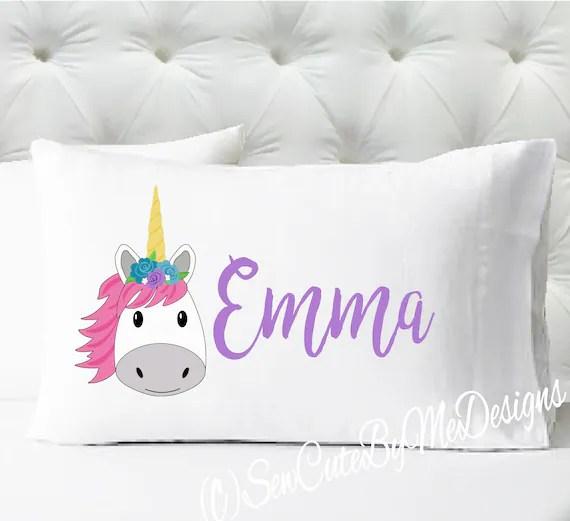 personalized girls pillowcase unicorn pillow case kids pillowcase standard size pillowcase pillow cases