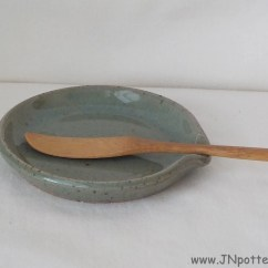 Kitchen Spoon Rest Brushed Nickel Faucets Stoneware Handmade Ceramic Coaster Etsy Image 0