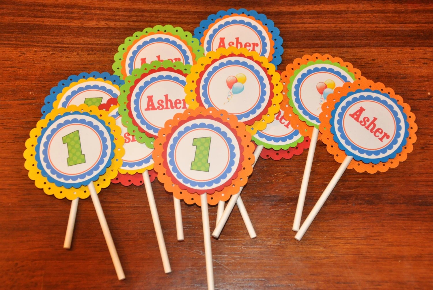 Cupcake Toppers Cupcake Picks Happy Birthday Primary