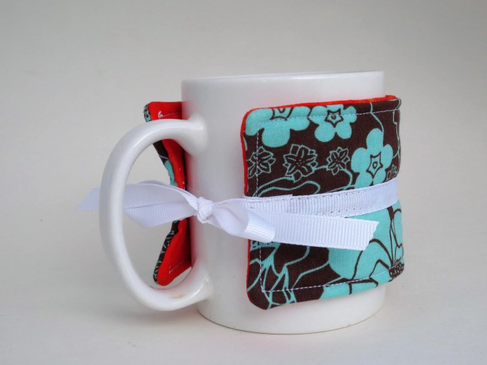 Floral Aqua Blue Brown an...