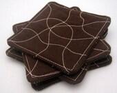 Chocolate Brown Whimsical...