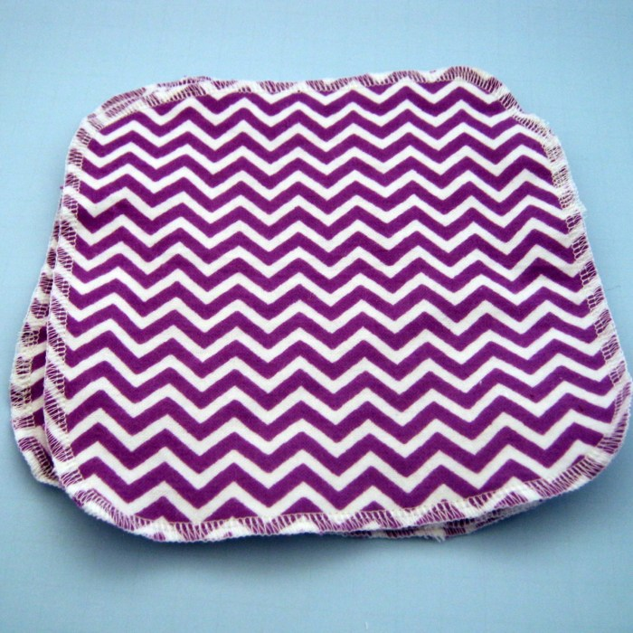 Purple Chevron Double Lay...