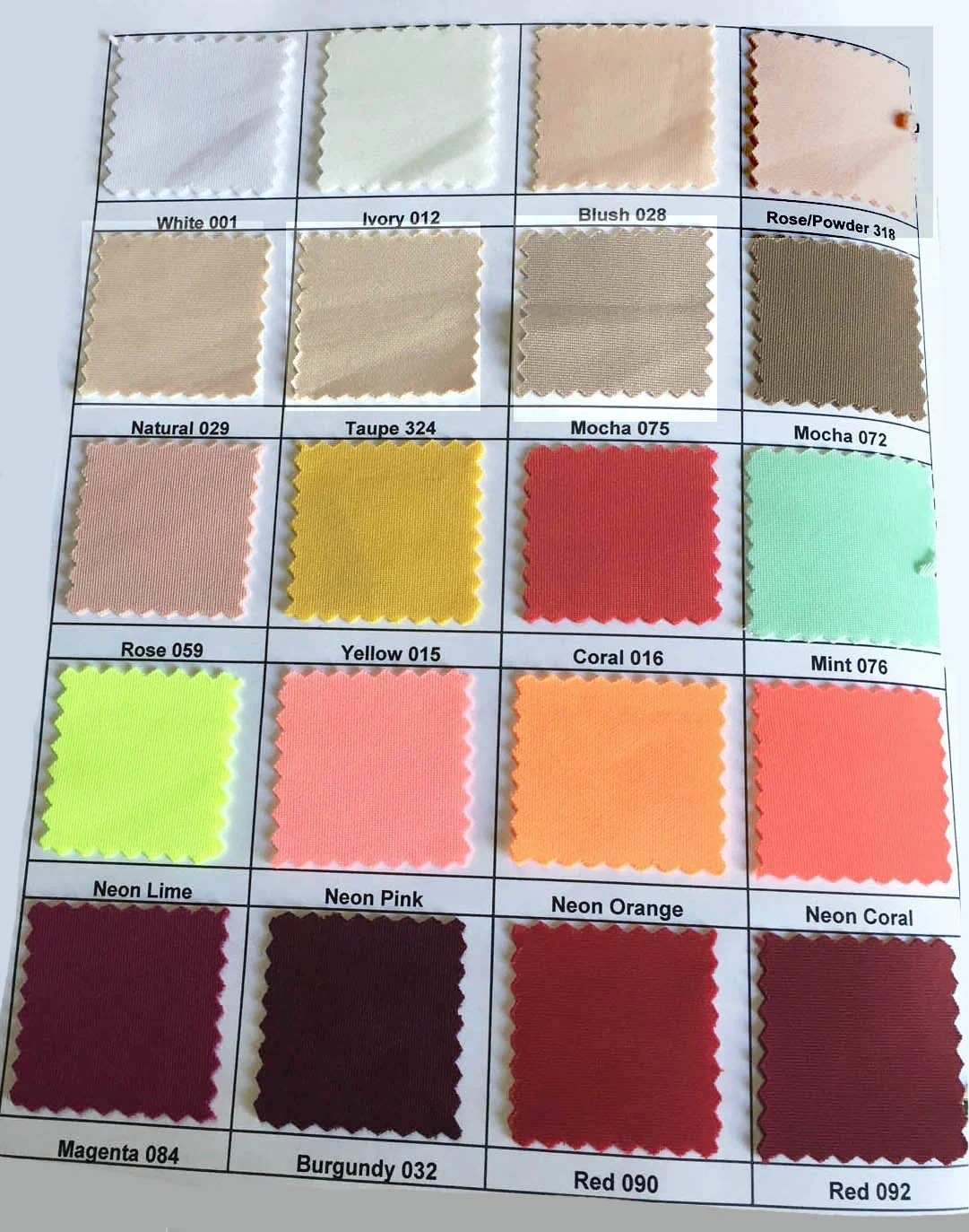 Chart Yard Fabric Neoprene Color