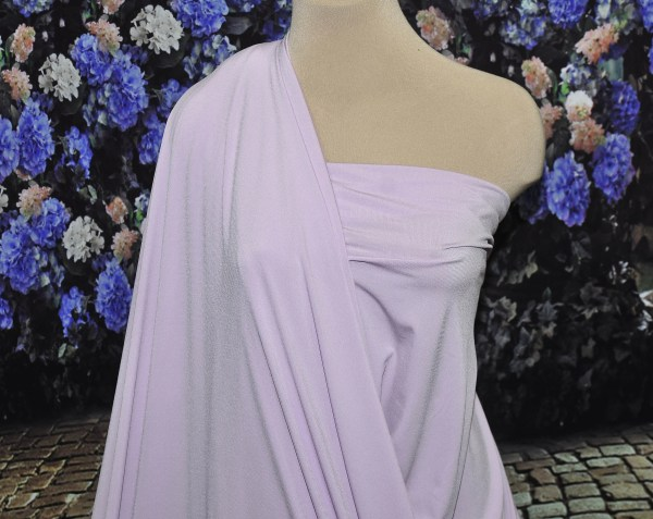 Lilac Purple Ity Solid Stretch Spandex Fabric 58 Wide