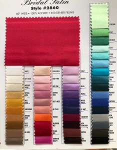Image also bridal satin fabric color chart yard choice from etsy rh