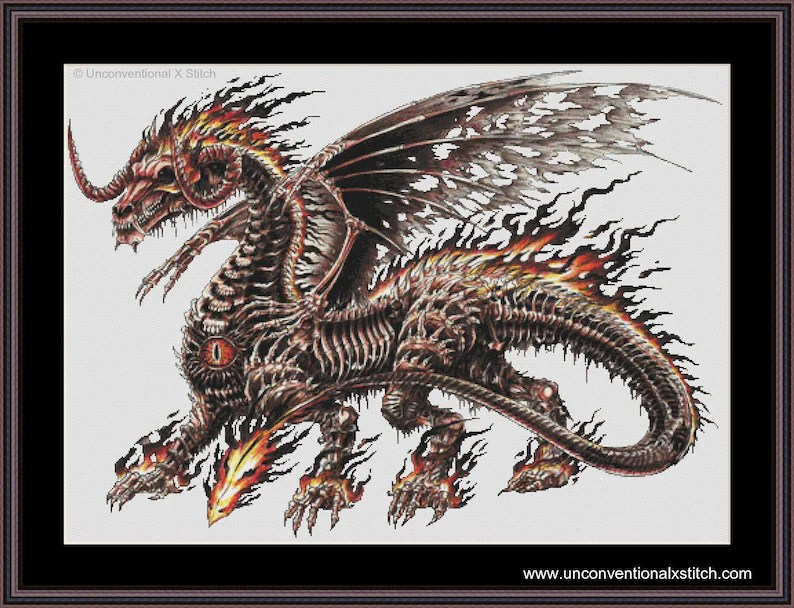 death dragon cross stitch