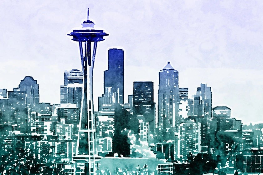 instant download seattle skyline