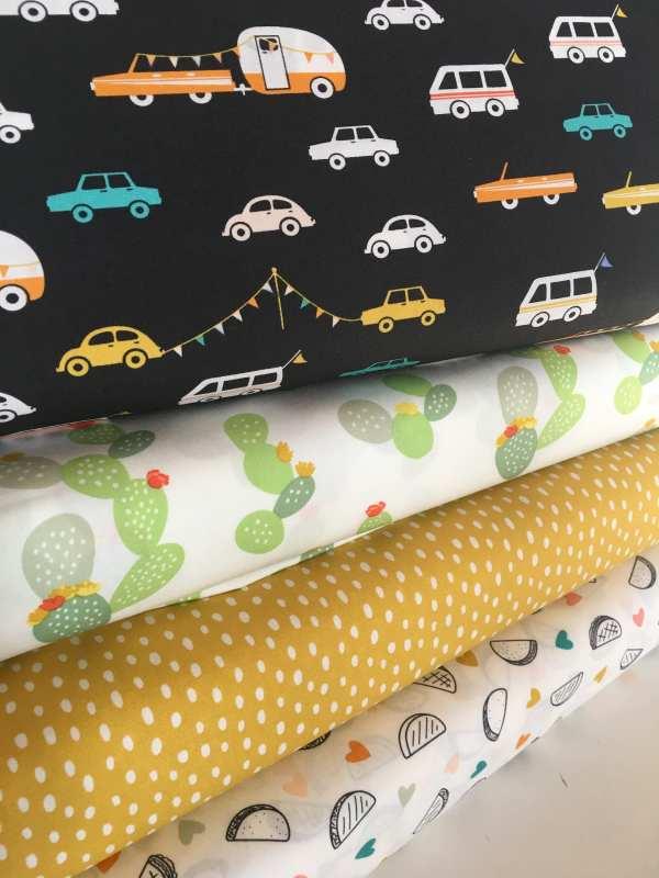Daytrip Fabric Kids Baby Quilt Camper Car Cactus