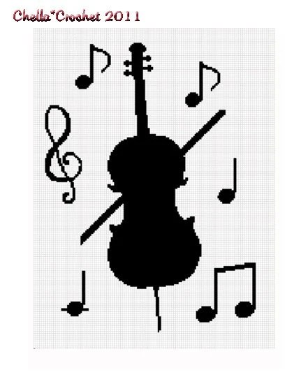 INSTANT DOWNLOAD Chella Crochet Flute Musical Notes Boys Girls