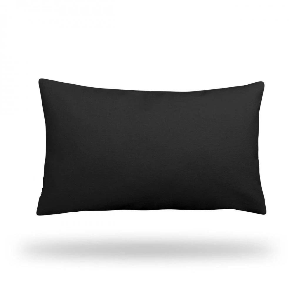 solid black throw pillow decorative pillow pillow cover pillow case rectangle 13 x 22 bottom zipper closure
