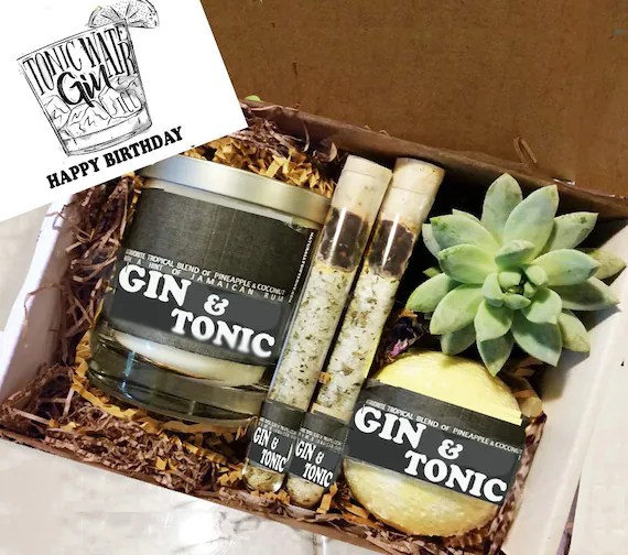 Birthday Gift Best Friend Birthday Gift Gin Tonic Gift Etsy