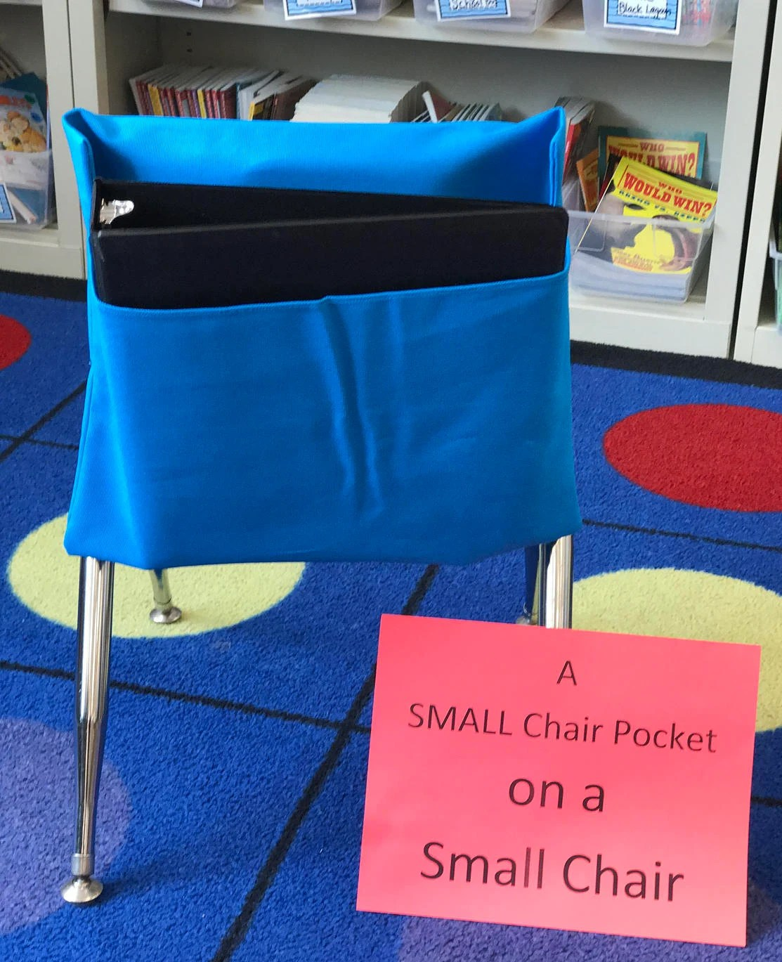classroom organizer chair covers black desk and cloth seat etsy