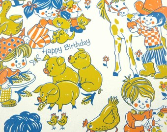 farm wrapping paper etsy