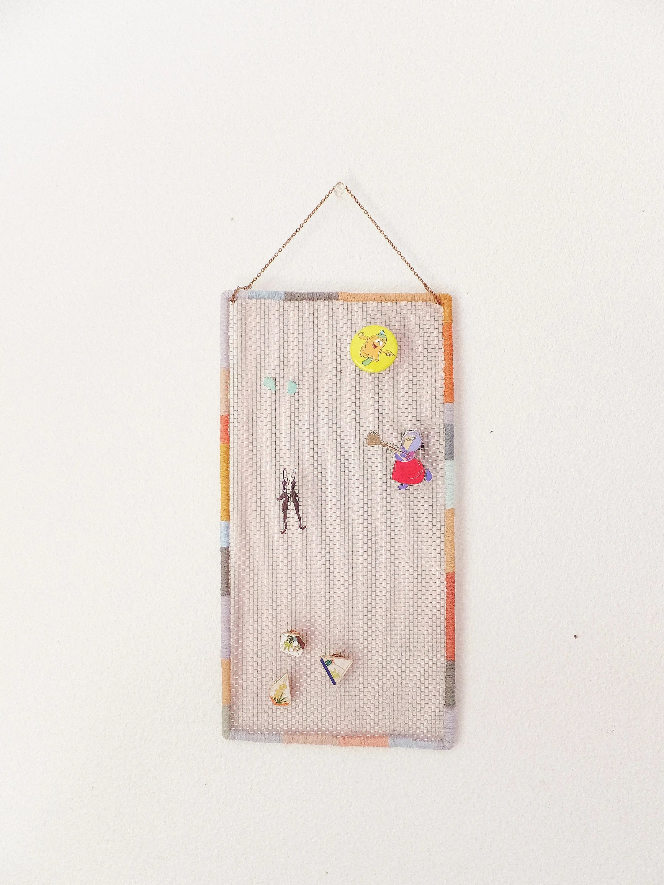 Mesh Earring Holder : earring, holder, Large, Earring, Holder, Pastel, Peach