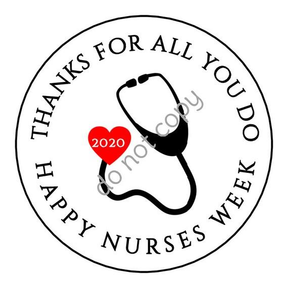 INSTANT DOWNLOAD Nurse Appreciation Week Gift Tags Nurses