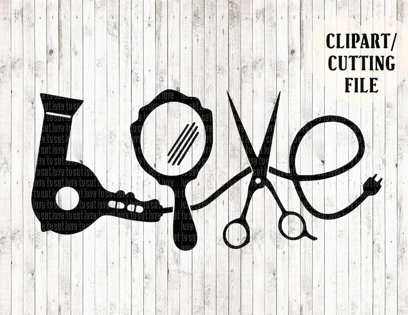 Download LOVE hair stylist svg file hairdresser svg hair dryer svg ...
