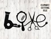 love hair stylist svg file hairdresser