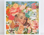 Domesticated Rose Girl // Collage Art Print