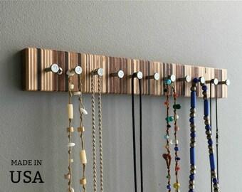 wood jewelry rack etsy
