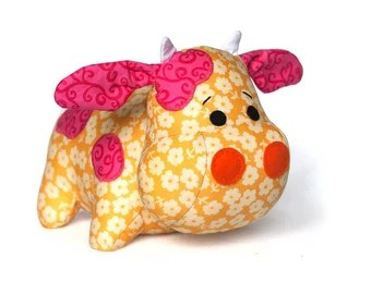 adorable plush cow sewing epattern