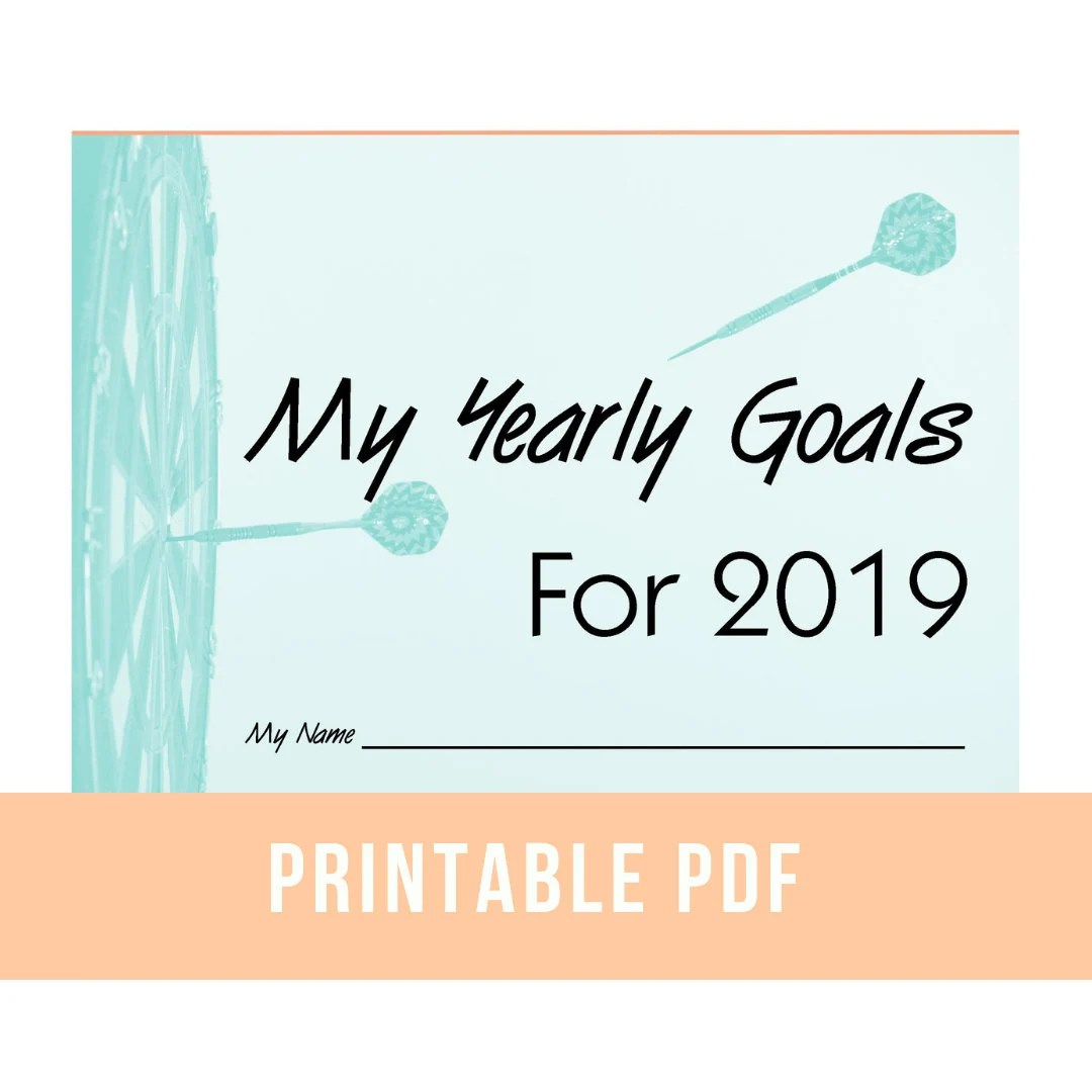 Yearly Goal Printable Worksheets New Years Planner