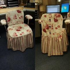 How Are Chairs Made Music Production Chair Custom Office Slip Cover To Measure Etsy Image 0
