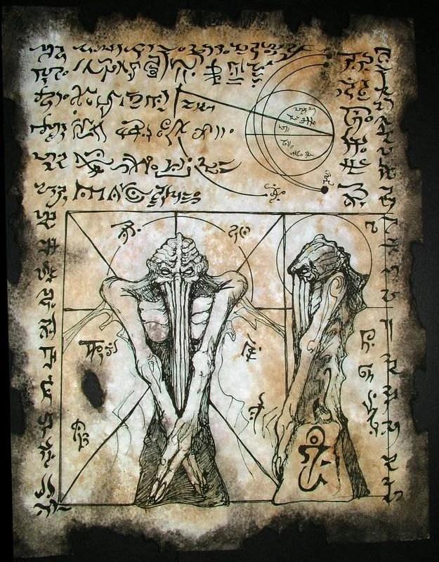 Gravity Falls Fan Art Wallpaper Cthulhu Cult Rituals Necronomicon Fragments Occult Dark