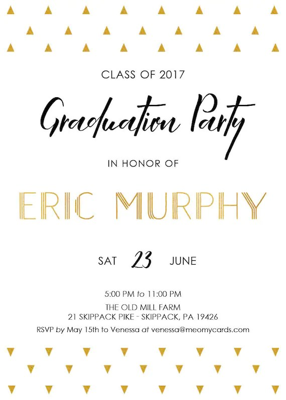 gold foil graduation party