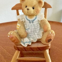 Stuffed Animal Chair Graco Duodiner High Reviews Etsy Vintage Enesco Dina Bear On Wooden Saying In Mind You Are Special Excellent Condition