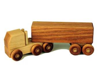 Wood Semi Truck Etsy