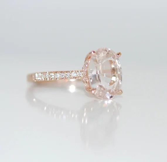 Blake Lively Ring White Sapphire Engagement Ring Oval Cut 14k Etsy