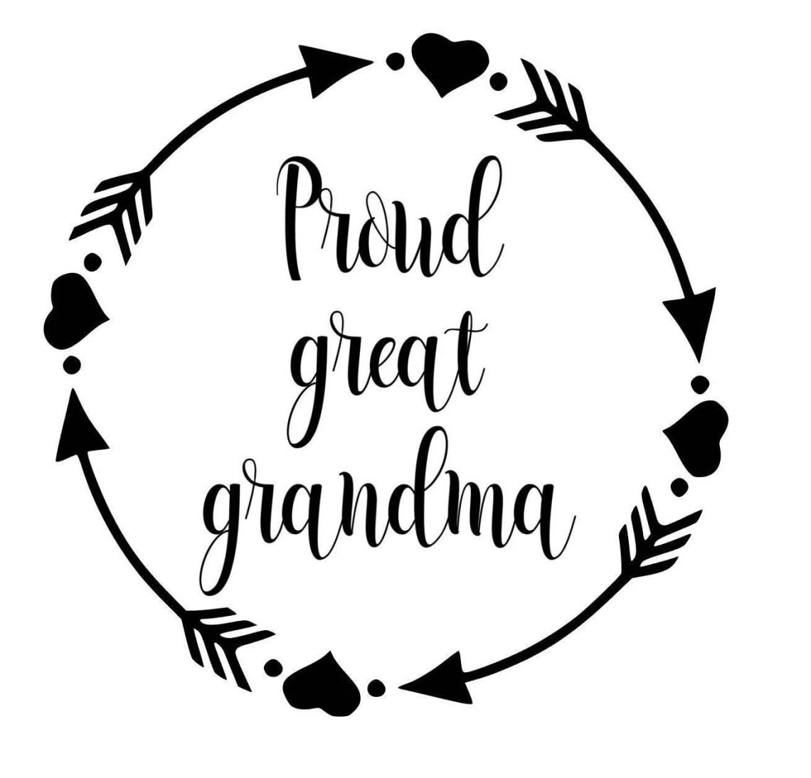 Download Proud Great Grandma SVG PDF PNG Jpg Dxf Eps Custom   Etsy