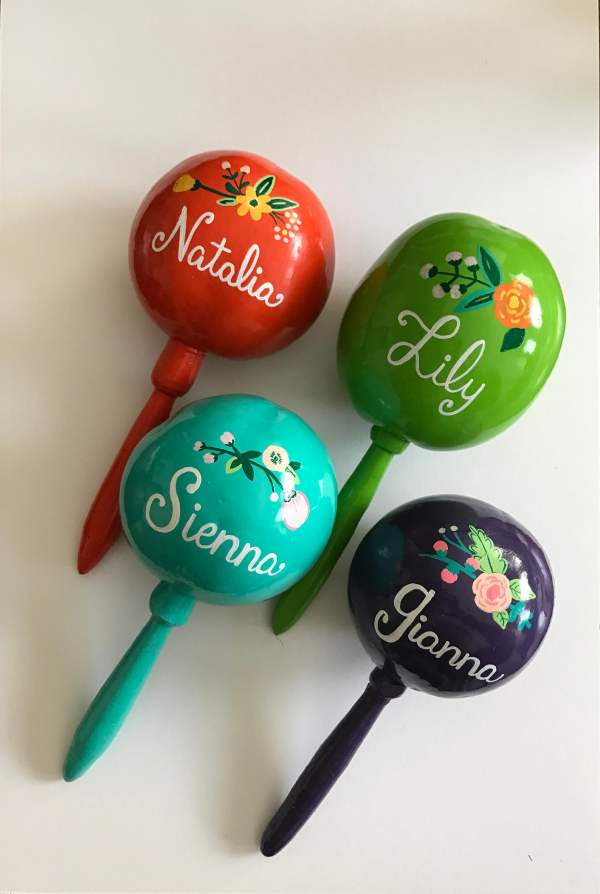 Bridal Party Maraca And Tag Personalized Wedding