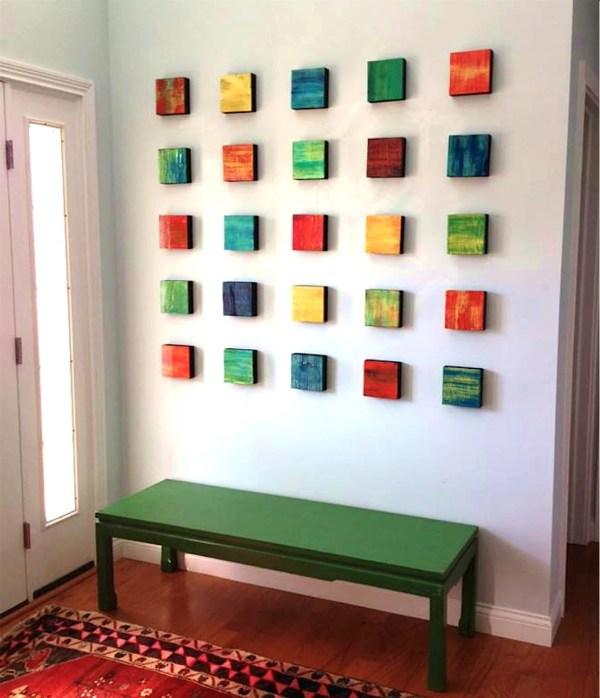Abstract Wall Art Wood Modern Decor