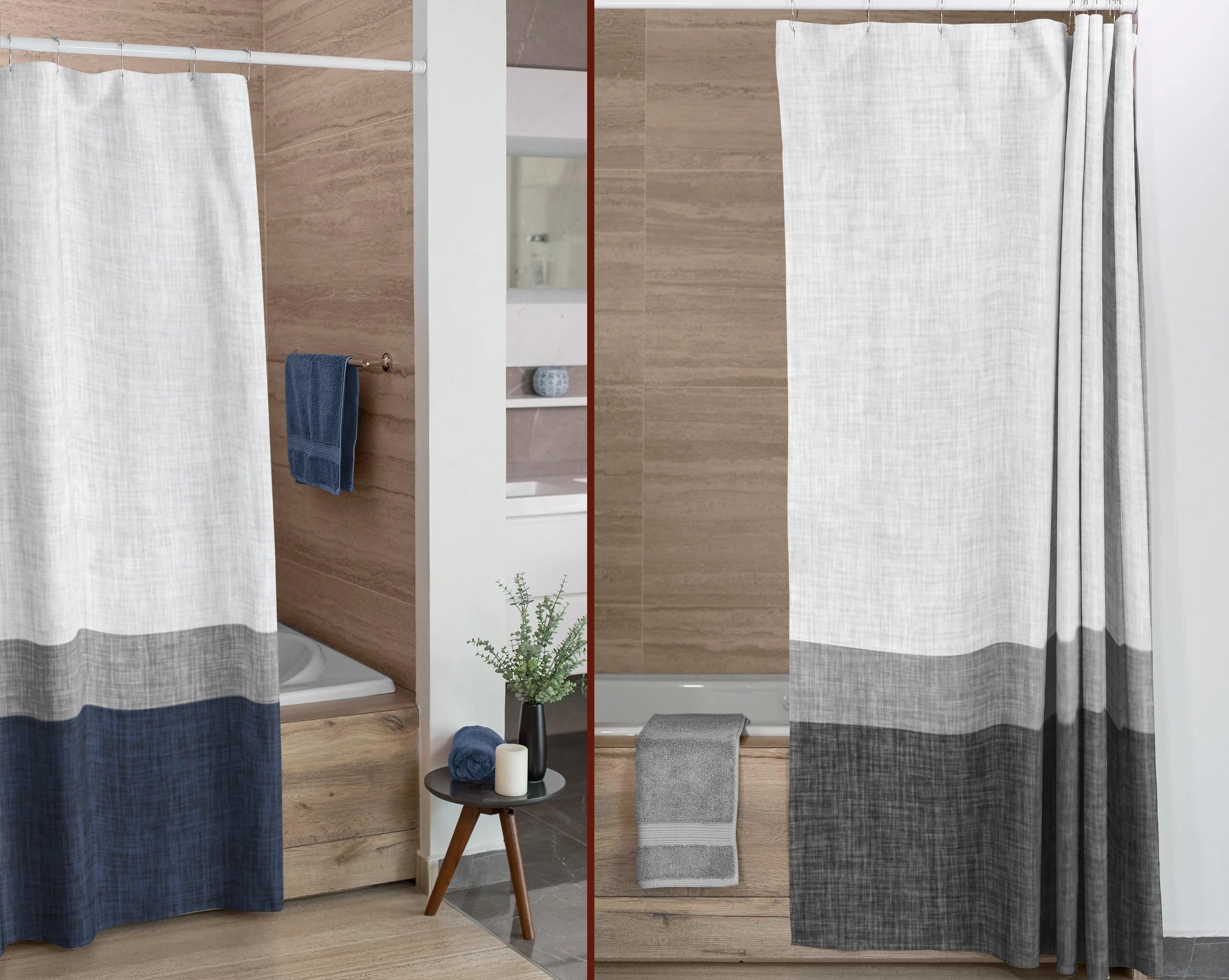 grey shower curtain etsy