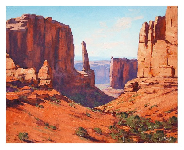 canyon painting desert landscape