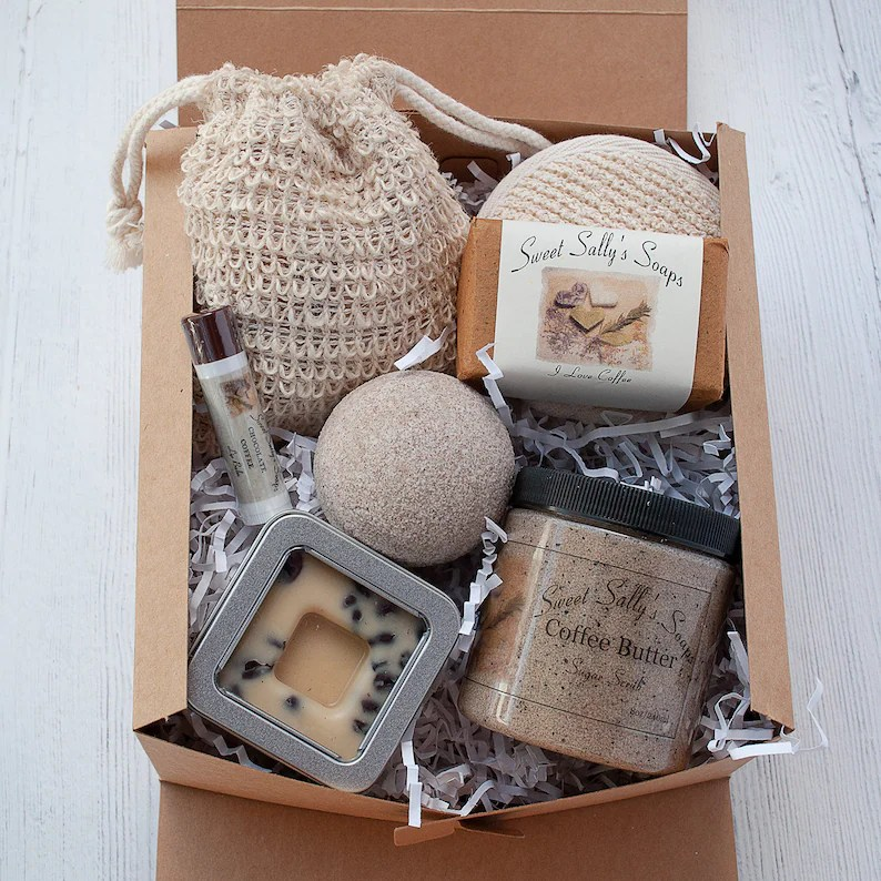 Coffee Self Care Spa Gift Set for the Coffee Lover image 0