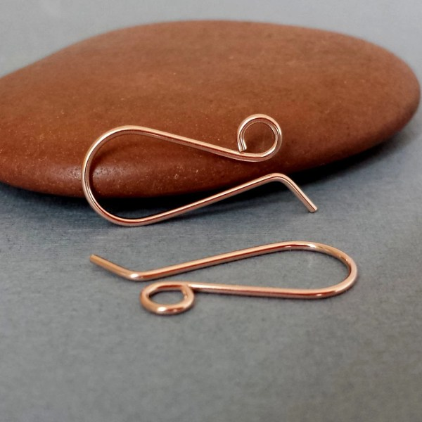 Handmade Ear Wires 14k Rose Gold Filled Retro French
