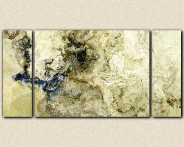 Oversize Triptych Abstract Expressionism Art Wrap