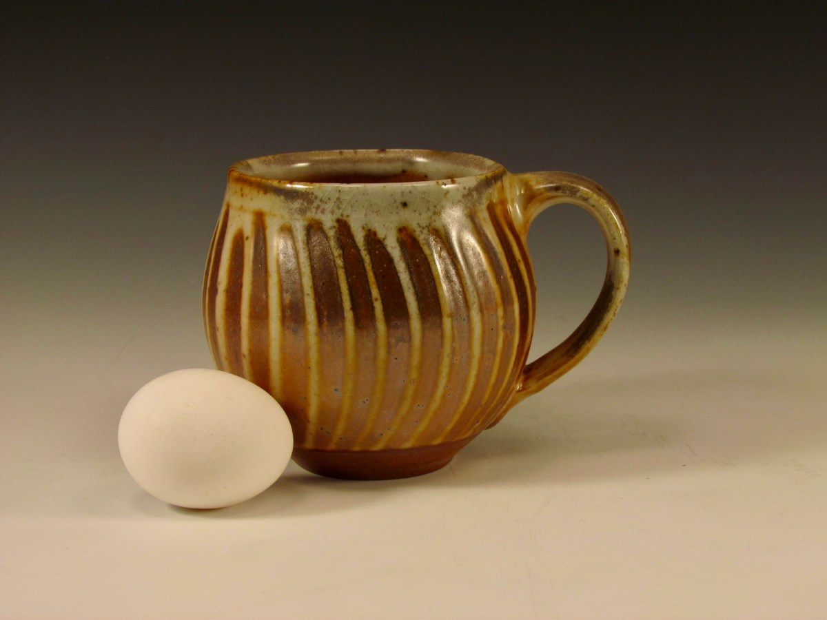 Wood-fired stoneware mug