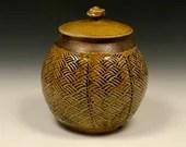 Textured Storage Jar