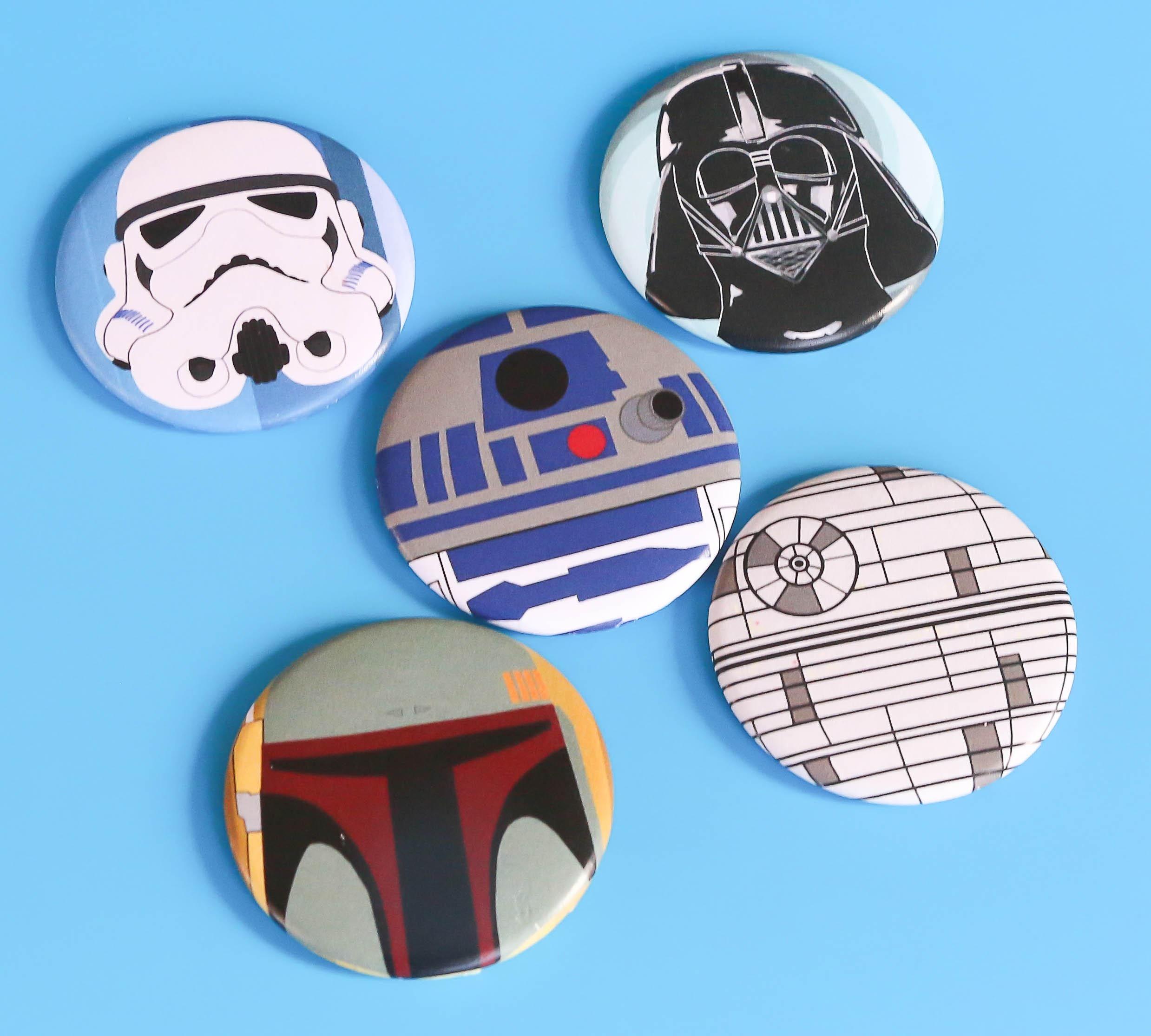 Star Wars Magnet Set Sci Fi Magnets Darth Vadar R2d2