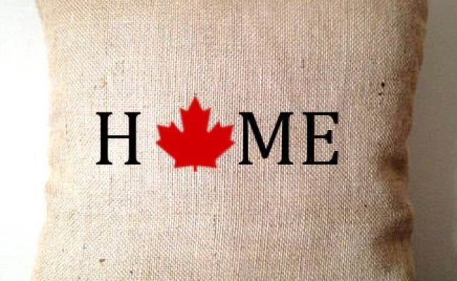 Canada Day Burlap Pillows Unique Gifts For Her Home Decor