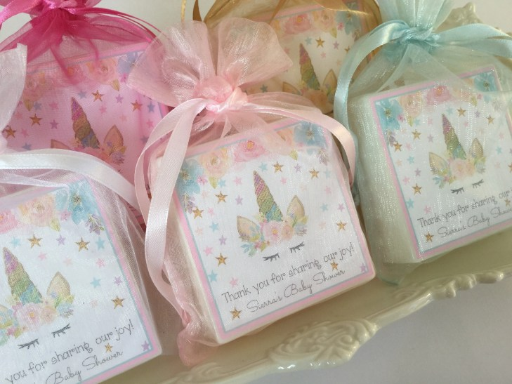 Unicorn Baby Shower Favors, Girl Baby Shower Favors, Unisex, Party Soap  Favors, set of 10