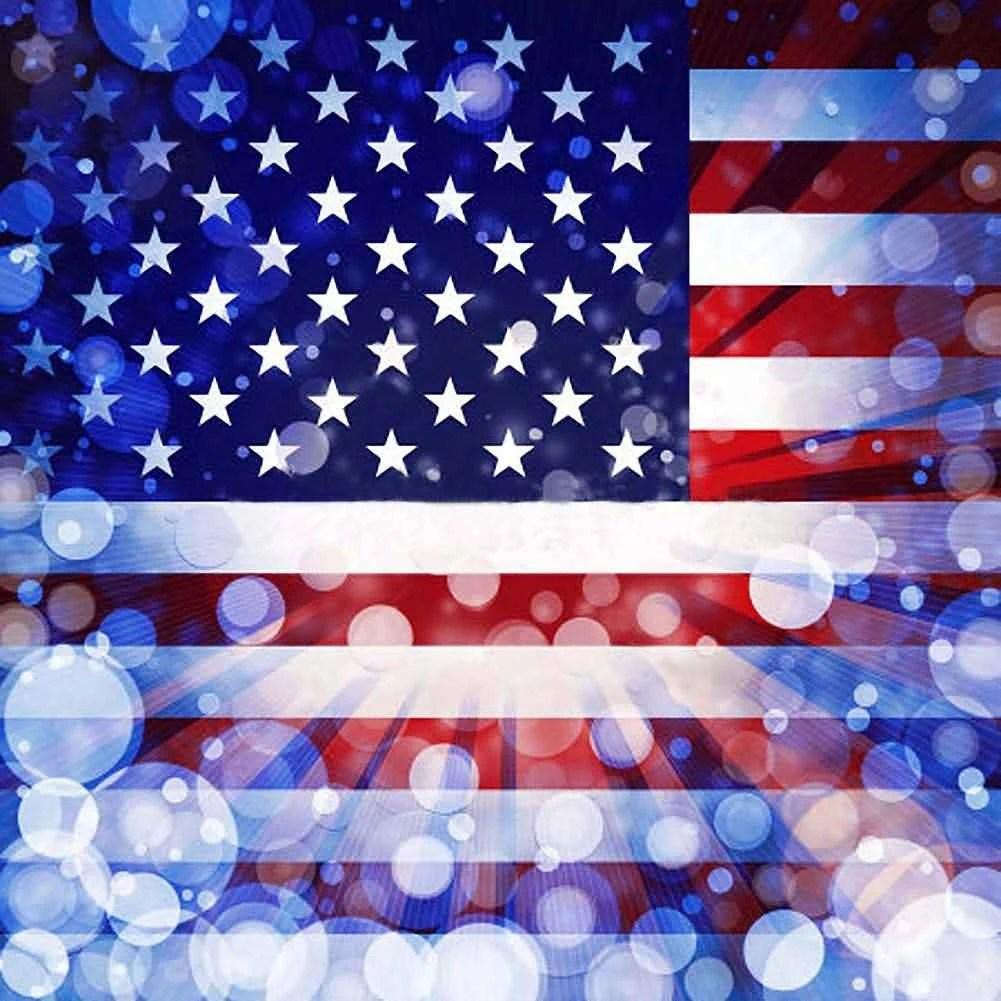 american flag backdrop computer